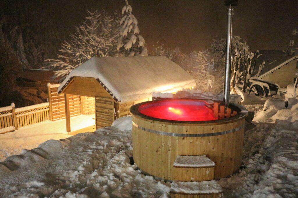 Bain Nordique en hiver - Spa La Jarbelle - Les Orres - Hautes Alpes