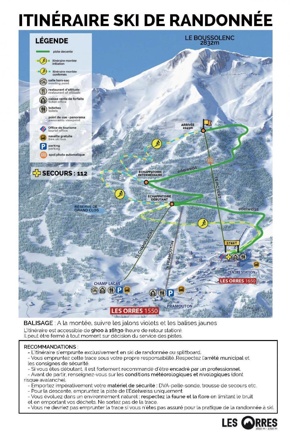 Itinéraire Ski de Rando
