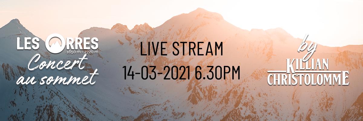 Les Orres - Concert au sommet - Live Stream 14 mars 2021